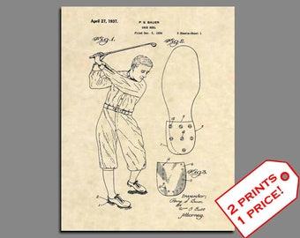 Golf Prints - Golf Club Patent Art - Vintage Patent Art Prints - Golf Home Decor - Golf Gift - Golf Prints - Golf Wall Art -Patent Print 369