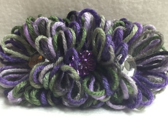 Hair Barrette - Green, Purple (#002)