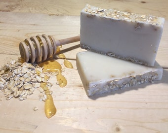 Honey and Oats Handmade Goat Milk Soap
