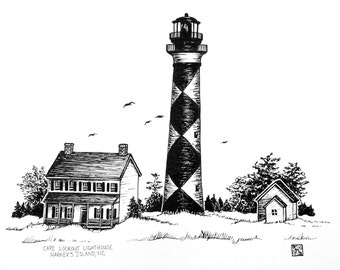 Cape Lookout Lighthouse Print
