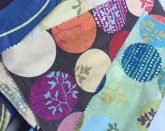 Unique Vintage Fabric Scaps Lot