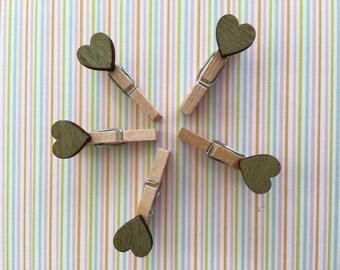 Golden Heart Mini Pegs