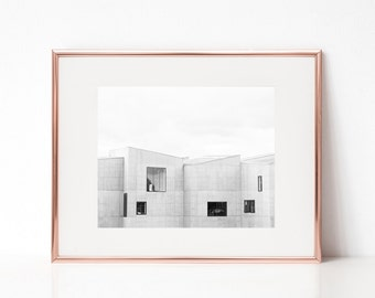 Clouded Grey Architecture Wall Art, Printable Art, Photography Print, Wall Decor, Wall Art, Building, Architecture