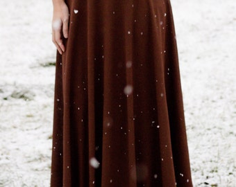 Long Maxi Chiffon Skirt | Chiffon fabrics |Bridesmaid skirt | Flowy Skirts | Long Skirt | Brown Skirt | Hijab style | Abaya |