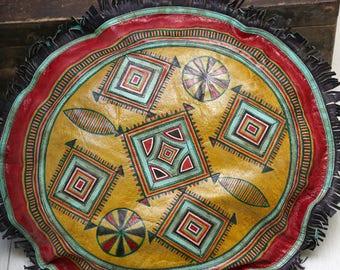 Tuareg skin cushion