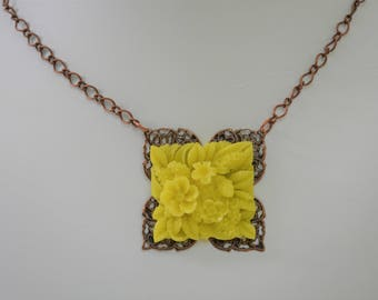 Yellow Floral Necklace