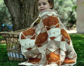 Fox crochet Baby Children Blanket