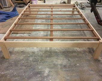 hard maple bed frame with slats - Maple Bed Frame