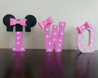 "Minnie Mouse""TWO"" wood letters"