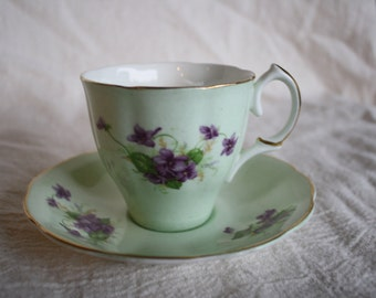 Vintage Teacup and Saucer - Jason Bone China - Made in England