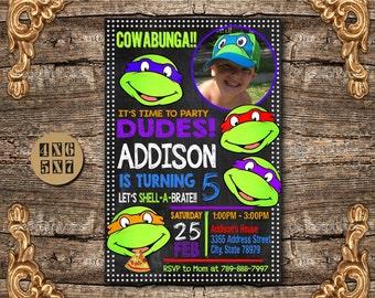 Ninja Turtles Invitation / Ninja Turtles Birthday Invitation / TMNT Invitation / Ninja Invitation / Ninja Birthday / Ninja Invite / Ninja