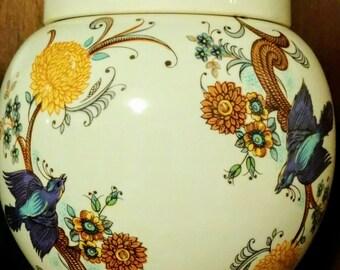 Vintage Ginger Jar - Blue Swallows - Sadler England