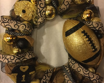 Steelers Black and Yellow wreath