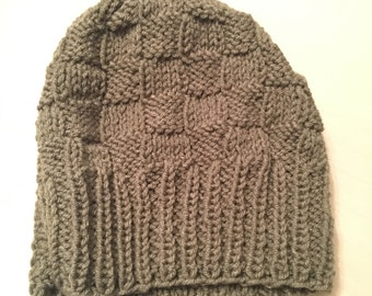 Hand-knit toques and hats