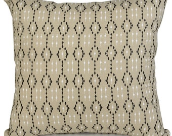 Ikat Latte Geometric  Cushions with Fillers Various Sizes 28cm , 36cm, 43cm , 60cm