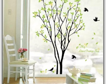 Tree Bird Quote Removable Vinyl Wall Decal Mural Art - Decor Sticker, wall decor, wall sticker