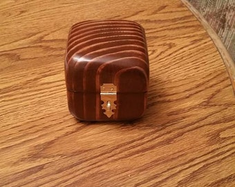Hand carved jewelry box