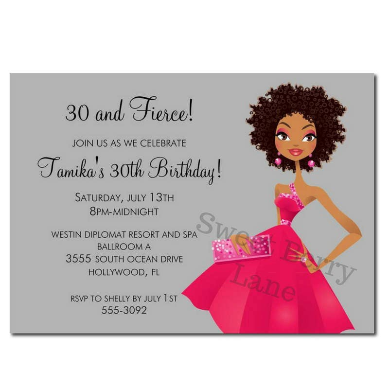 African American Party Invitation African American Birthday – African American Birthday Invitations