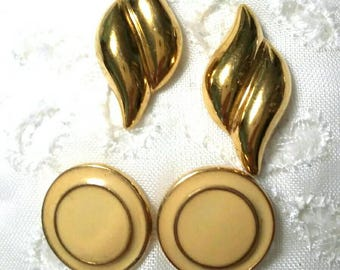 Two pair Monet small post earrings