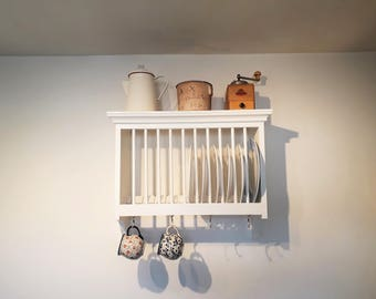Wall Mounted Traditional Kitchen Plate Rack