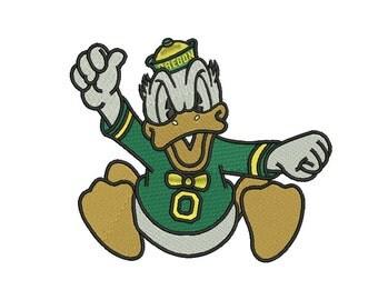 Oregon Ducks Embroidery Design #1 - 5 SIZES