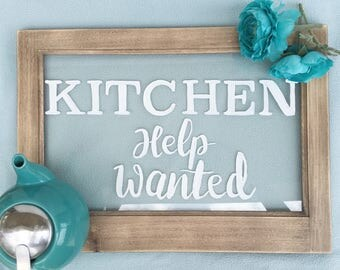 kitchen vintage window style sign