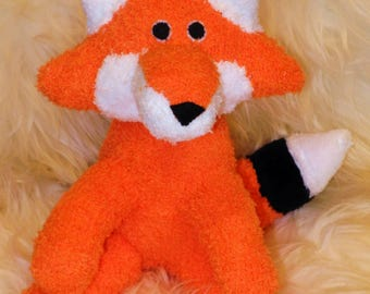 fox Stuffed Animal Hand Stitched Sock Critter  stuffy cuddly toy fuzzy stuffie lovies bugs, insect, spring, easter vixen dog