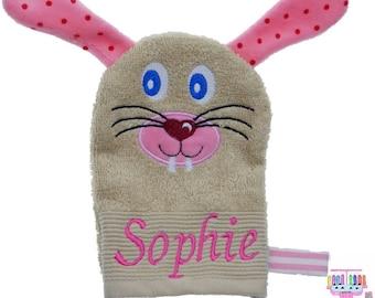 Washcloth Bunny named Sophie