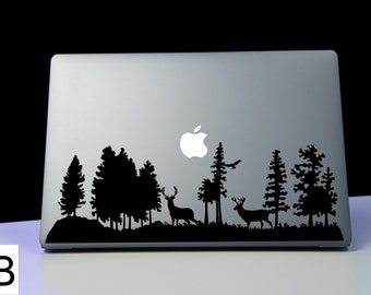 Forest Decal, Forest Sticker,Forest Range,  Adventure Awaits, Laptop Decal, Car Decal, Macbook Decal, Laptop Sticker, Macbook Sticker