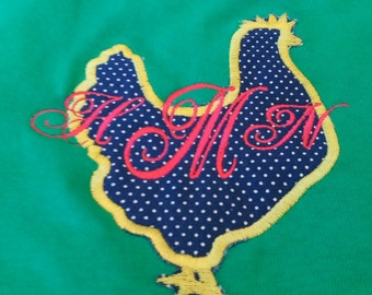 Monogram chicken shirt
