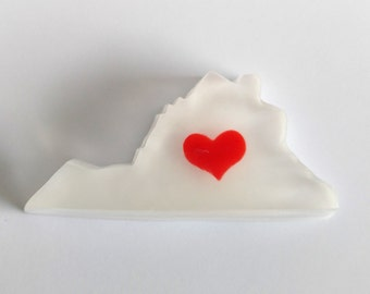 Virginia State Shaped Soap Glycerin Soap Guest Wedding Soap Favor Soap Gift Hand Crafted Soap Bar Soap State of Virginia Coconut Milk Soap