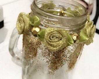 Rose Jar Candle Holder