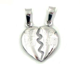 Average best friend broken heart pendant