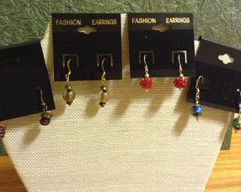 Handmade earrings.   Sold together or separately.