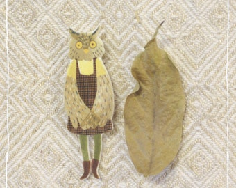 owl dungarees with skirt