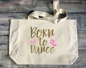 Canvas Tote 21x14 Market Bag Ballet Dance