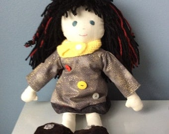Hand Made Hand Stitched Rag Doll Lilie