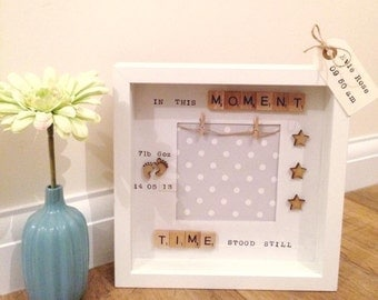 Personalised new baby gift, gift for baby boy, gift for baby girl, Baby Birth Frame, Birth Announcement, New Baby gift