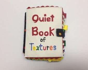 Quiet Book of Textures, Quiet Book, soft baby book, felt book, Montessori book