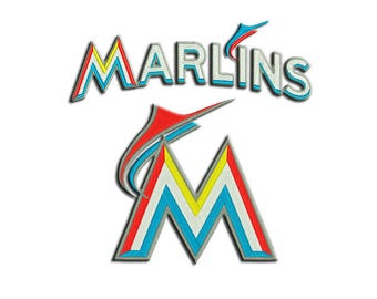 Marlins embroidery design - Machine embroidery design