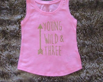 Young, Wild & Three hot pink tank top, young, wild and three shirt