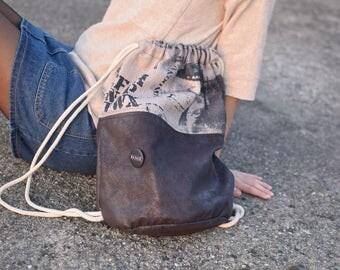 casual brown backpack