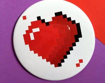 Pixel Heart - Pocket mirror