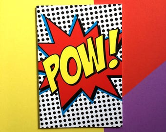 POW! A6 size notebook and journal