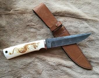 Damascus knife / Bushcraft Knife / Survival Knife / Handmade Knife / Camping Knife / Hunting Knife / Iron wood