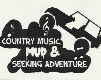 Country Music Decal Etsy