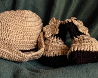 Baby cowboy outfit photo prop, newborn cowboy outfit, newborn cowboy photo prop, crochet cowboy hat and boots, baby cowboy hat photo prop