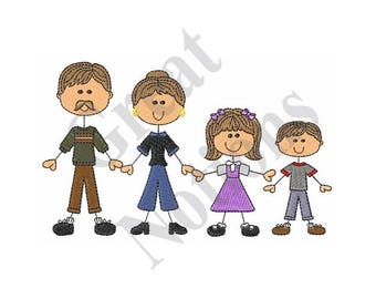 Stick Figure Family Etsy