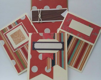 Set of cards without text, handmade, unisex card, masculine card, standard format.
