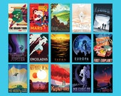 Full Set of 15 NASA Exoplanets Posters, Space Tourism Posters, Home Decor includes TRAPPIST-1 Poster | Complete Collection of NASA Prints
